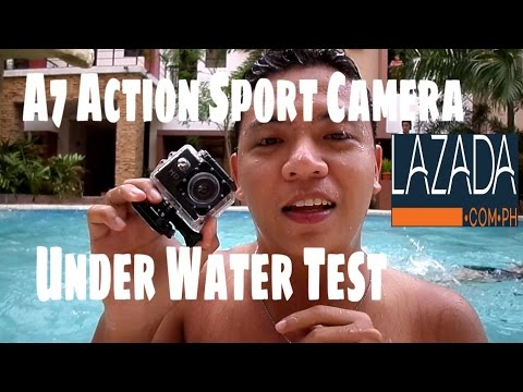 A7 Action Camera Water Test Video Sample Lazada