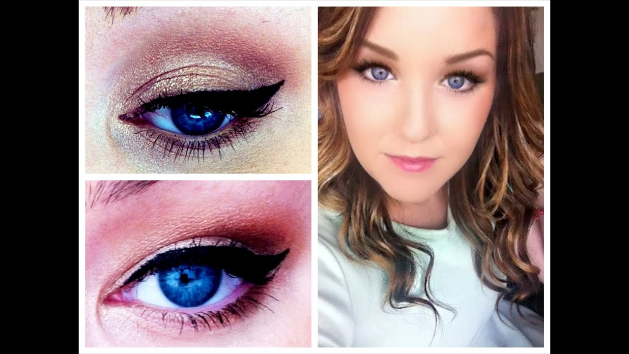 Flattering Blue Eyes Makeup Tutorial + How to Make Small Eyes Look ...