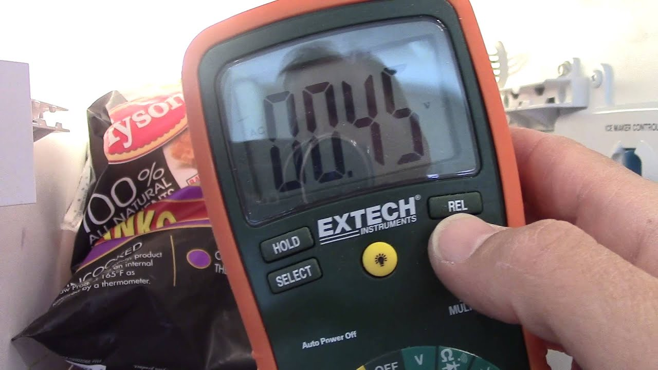 Testing Ice Maker Voltage How To Measure Youtube Samsung Refrigerator Wiring Diagram