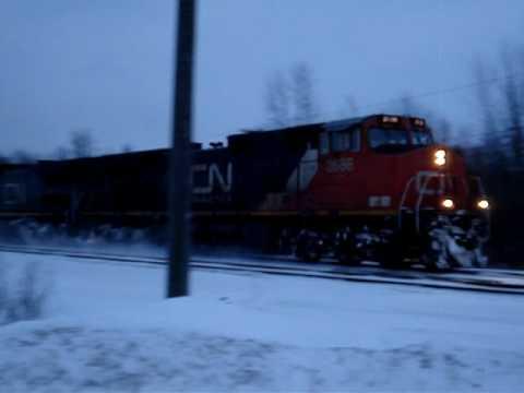 CN Rail Train 369 - Dashing Through The Snow Again!