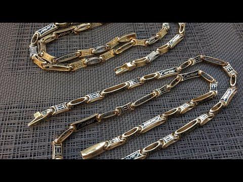 Золотые цепи Cartier