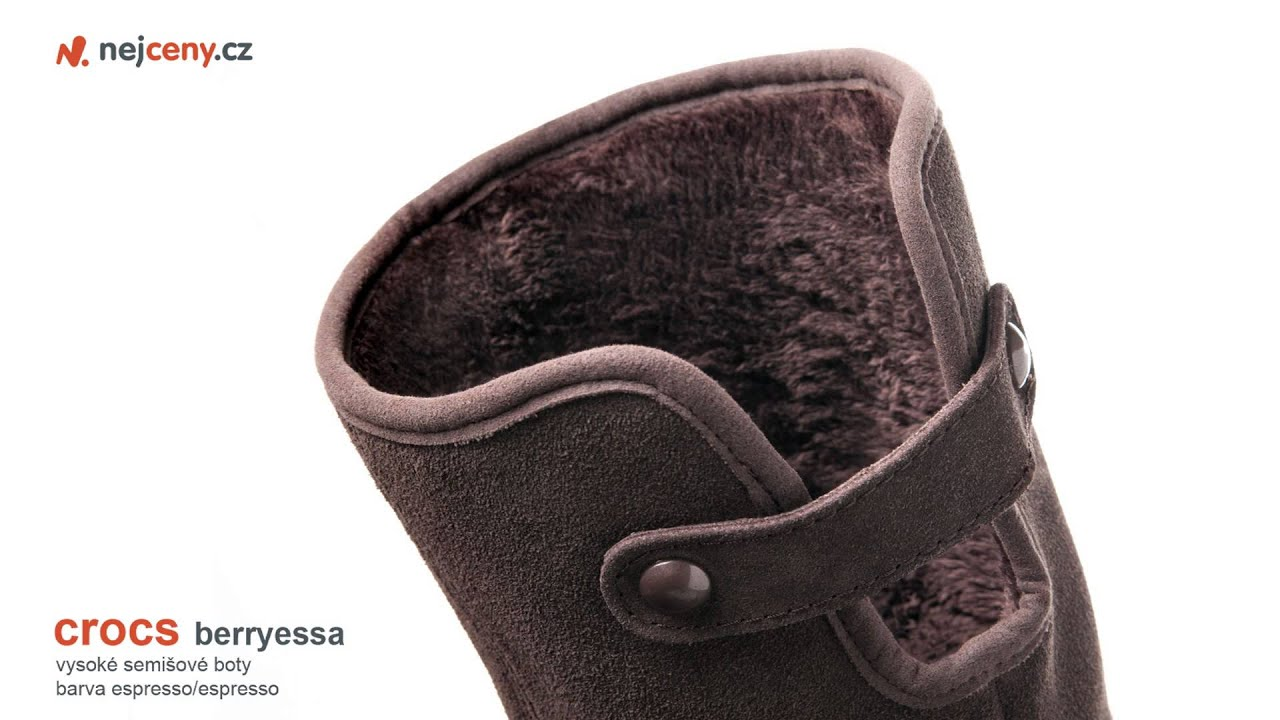 ac1bd2052b Crocs Berryessa Tall Suede Boot - YouTube