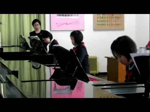 Pyongyang Childrens Palace Piano Practice