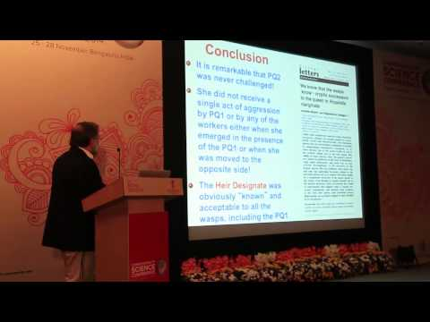 Prof. Raghavendra Gadagkar in Commonwealth Science Conference 2014