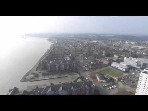 Grays (Essex UK) view from the Drone