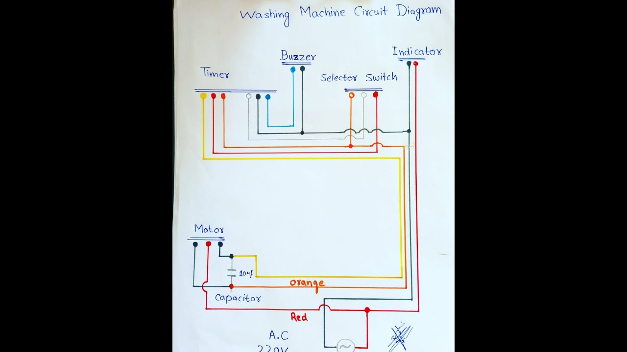 washing machine circuit diagram/timer connections/motor connection - YouTube | Whirlpool Semi Automatic Washing Machine Wiring Diagram |  | YouTube