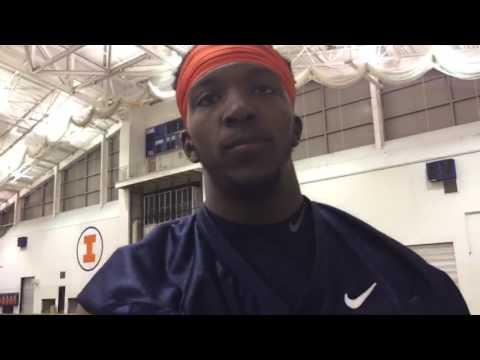 Malik Turner post-practice 2-15-17