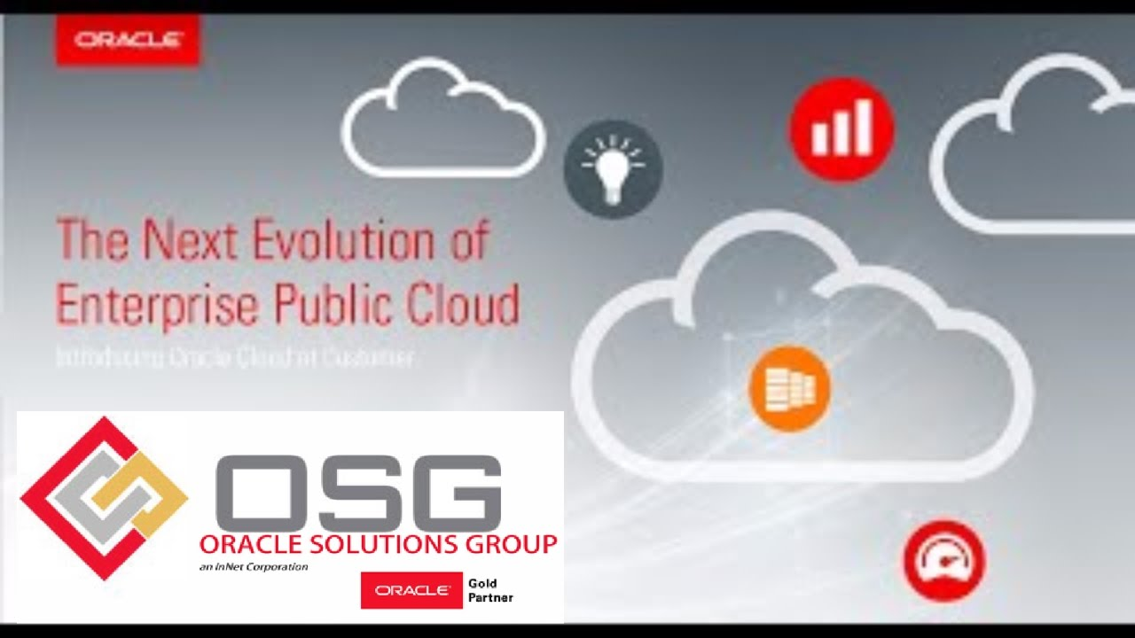 Oracle Cloud Machine Leveraged Internally and Externally by Cognizant