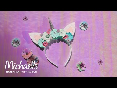 Make a magical unicorn headband that will make all of your wildest dreams  come true! This mystical accessory is just as cute as it is fun! cb20e114827