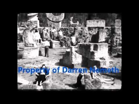 Footage of Edward Leedskalnin and his Coral Castle.