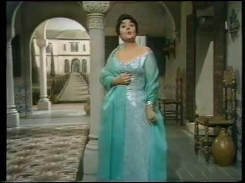 Victoria de los Angeles. On TV. Clavelitos. London.1968.