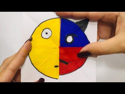 Emoji DIY Paper  Magic Card | face changer tutorial