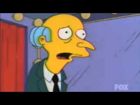 Waylon Smithers frightened by strippers
