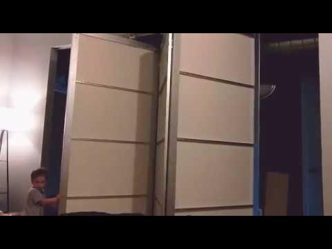 Ikea Pax doors using Johnson hardware