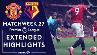 Manchester United v. Watford | PREMIER LEAGUE HIGHLIGHTS | 2/23/2020 | NBC Sports