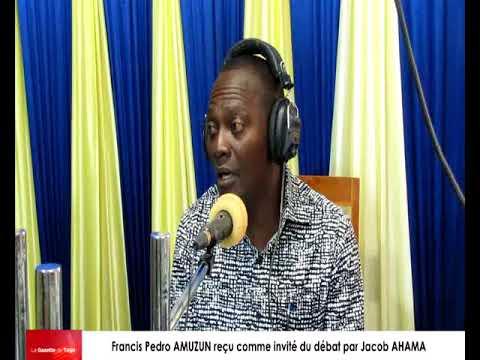 Francis Pedro AMUZUN reçu comme invité du débat par Jacob AHAMA sur radio Victoire Fm