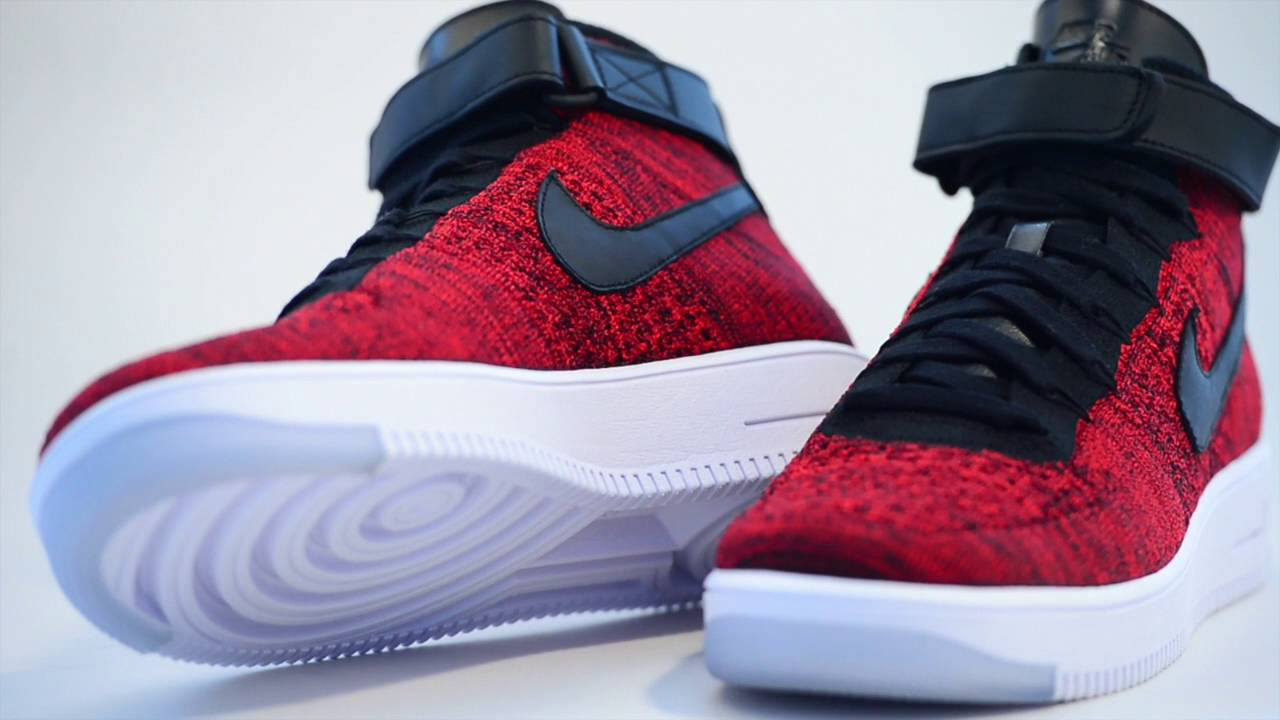 on sale ead81 5a897 nike air force 1 ultra flyknit high red