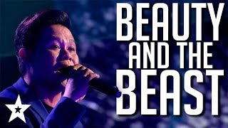 INCREDIBLE Voice Sings Beauty and the Beast on America's Got Talent: The Champions 2020