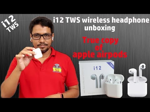hindi-||-i12-tws-wireless-headphone-unboxing-true-copy-of-apple-air-pods