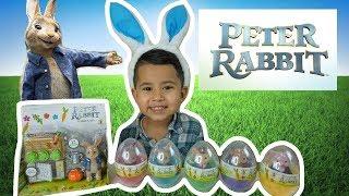 UNBOXING PETER RABBIT MOVIE TOYS 2018,PETER RABBIT SURPRISE  EGGS TOYS