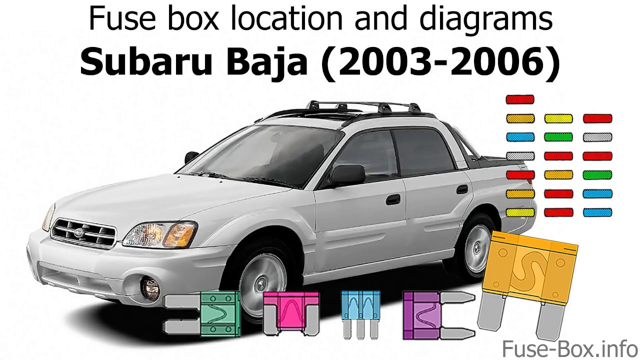 small resolution of fuse box location and diagrams subaru baja 2003 2006 youtube 2003 subaru outback fuse diagram 2003 subaru baja fuse box