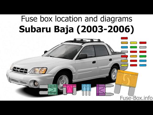 Subaru Baja 2005 Fuses Box - Wwwcaseistore \u2022
