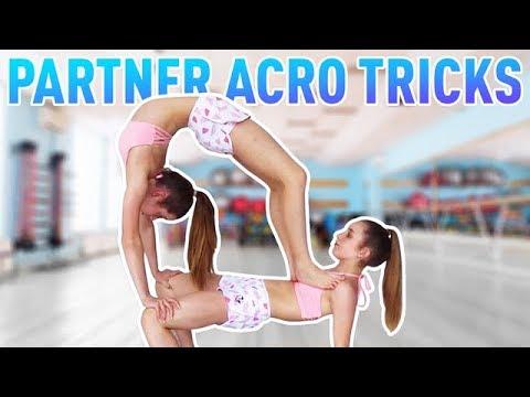 Easy Partner Acro Tricks | Jaz and Brooke