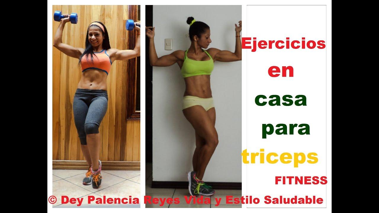 rutina de ejercicios para triceps en casa