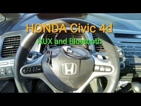 HONDA Civic 4d как установить AUX And Bluetooth