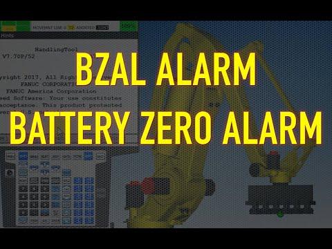 FANUC ROBOT BZAL ALARM - YouTube