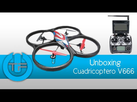 Cuadrico?ptero RC WLtoys V666 - Unboxing & Review