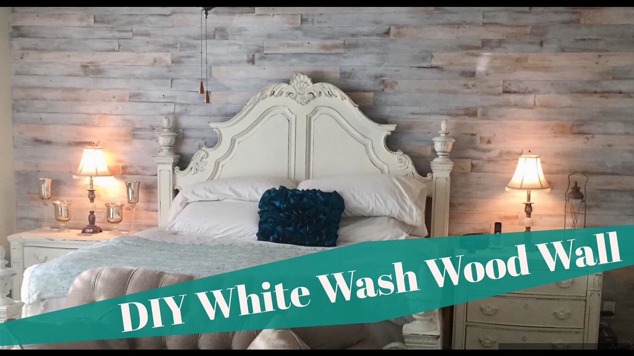 Diy Shabby Chic White Washed Cedar Wood Plank Wall Install