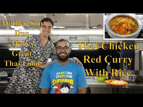 Thai Chicken Red Curry With Rice | Thai Food Special | Indian Street Food | NIBM | Pune