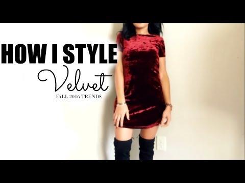 Sexy velvet dresses