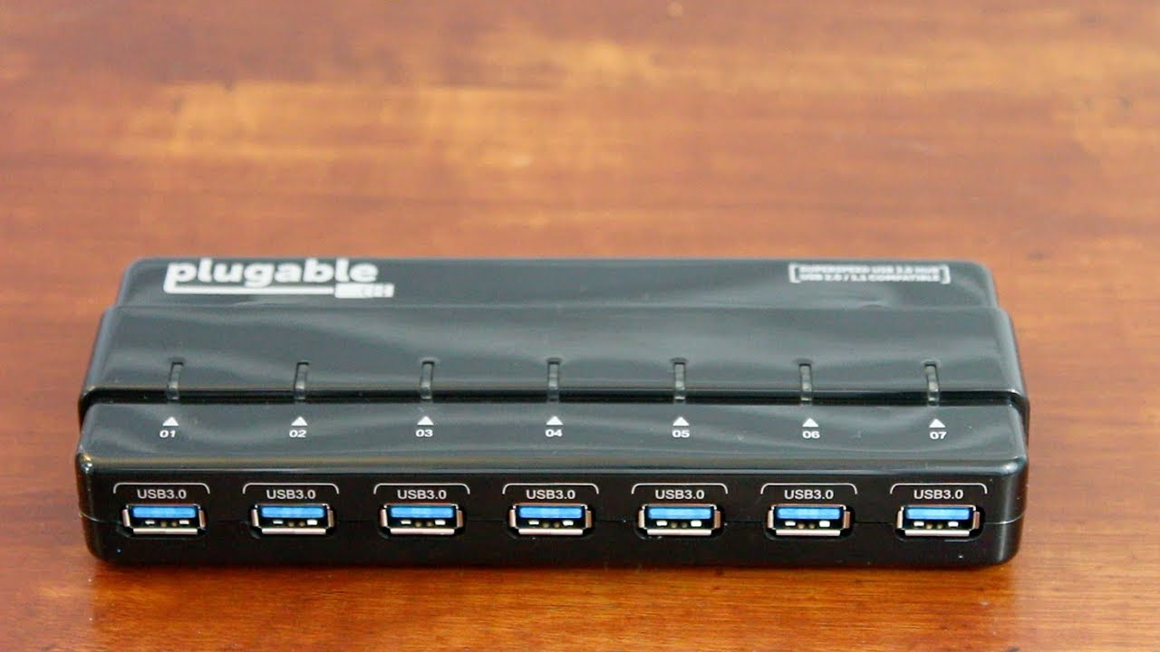 Unboxing plugable 7 port usb 3 0 powered hub youtube - Plugable 7 port usb 3 0 superspeed hub ...