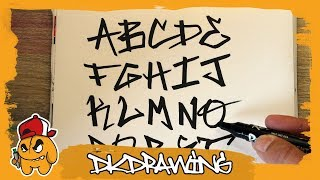 Graffiti Tag Alphabet - Handstyle Tagging #6