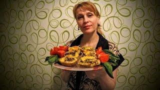 Вкусный запеченный картофель в духовке с грибами рецепт Секрета приготовления блюда с сыром