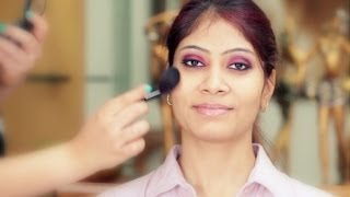 How To Apply Makeup Tutorial: Eye makeup for indian eyes with pink & purple eyeshadows Thumbnail