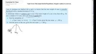Finding the Probability of a Type 2 Error #1