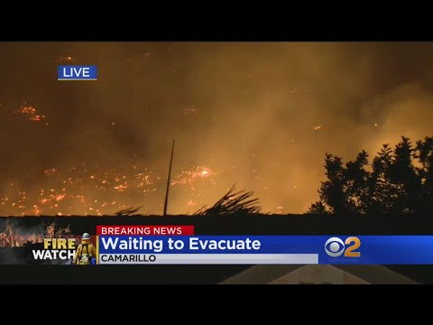 Camarillo Residents Awaiting Possible Evacuation Orders As Hill Fire Continues To Burn