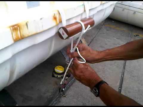 RFD liferaft on deck cradle Part II