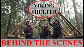 VIKING SHELTER WITH TA OUTDOORS - BEHIND THE SCENES; STEAK FEAST, BED, BARK! Pt.3