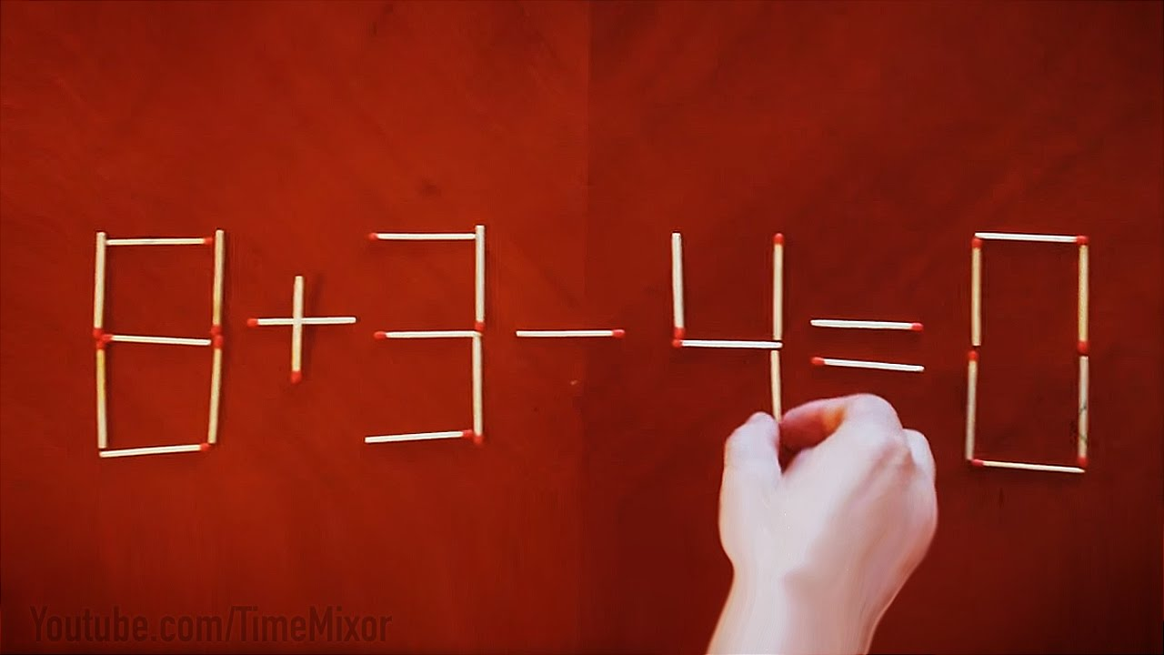 Solve The Matchstick Puzzle !!! <b>1 Move</b> Only - YouTube