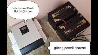 500 watt güneş paneli sistemi evde hangi cihazları çalıştırır (BEDAVA ELEKTİRİK) Free Energy