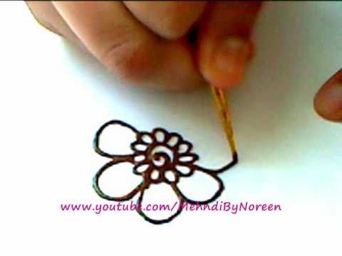 How To Draw A Henna Flower Part 3 Youtube