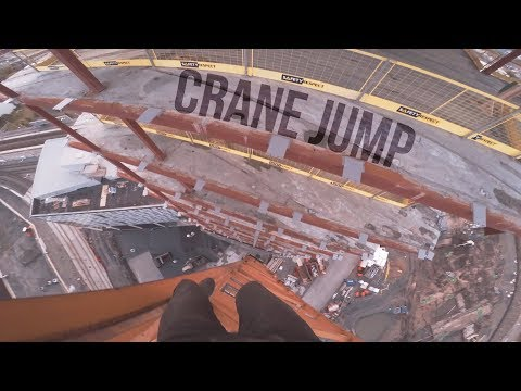 Free Climbing | Would you jump from this crane?