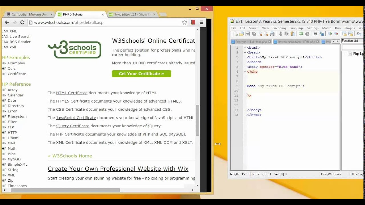 Learn php by w3school youtube learn php by w3school baditri Image collections