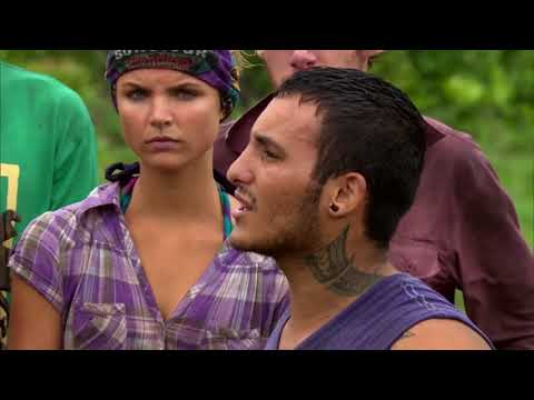 Survivor: Caramoan - Brandon's Meltdown and Impromptu Tribal Vote Out Part 1