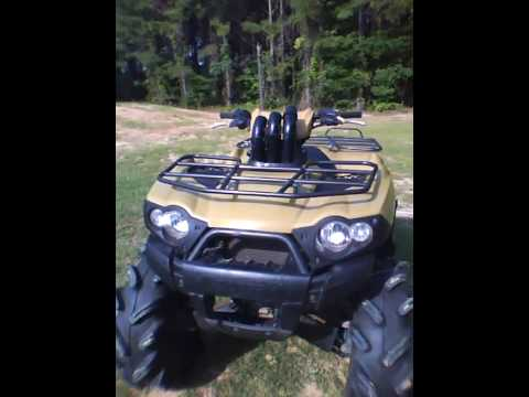 Kawasaki Brute Force 750 Exhaust And Mods Youtube