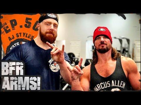 AJ Styles Blood Flow Restriction 'BFR' | Ep.50 Arms Workout